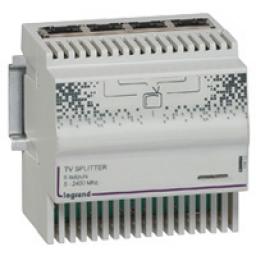 Legrand Модульный ТВ-сплиттер: коаксиальный вход - 4 выхода RJ45 , 4DIN