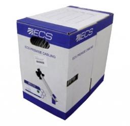 ECS Кабель на основе витой пары Cat.5е, U/UTP, 4 пары, PVC, серый, коробка 305 м 105-141-51