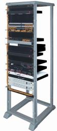 AESP Открытая монтажная стойка, универсальная 19, высота 1.30м, 27U, серая REC-27UB-GY