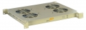 AESP Вентилятор универсальный для установки в напольные шкафы с термореле, 4 элемента, серый