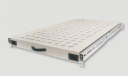Eurolan Полка стационарная до 100 кг для шкафов и стоек глубиной 1000 мм, черная