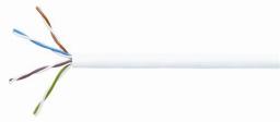 Eurolan Кабель на основе витой пары категории 5e, U/UTP, 4 пары, ПВХ, 24 AWG, внутренней прокладки, белый, коробка 305 м