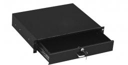 Hyperline TDRW-2U-360-RAL9004 Ящик для документов 2U, глубиной 360 мм, с замком, цвет черный (RAL 9004)