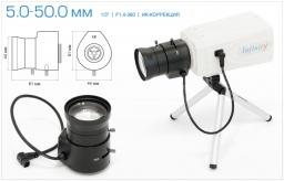 Infinity Варифокальный объектив 5.0-50.0 мм с ИК коррекцией SCV-550 GIR