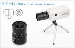 Infinity Варифокальный асферический объектив 2.4 - 6 мм с ИК коррекцией SCVMA-246 MIR