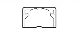 Legrand DLPlus Мини-плинтус плоский без перегородки 32х20