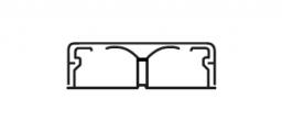 Legrand DLPlus Мини-плинтус плоский с перегородкой 40х12,5