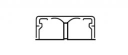 Legrand DLPlus Мини-плинтус плоский с перегородкой 40х16