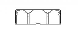 Legrand DLPlus Мини-плинтус плоский с перегородкой 60х16