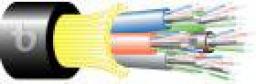 Teldor 95M733Q16B Кабель волоконно-оптический 50/125 (OM3) многомодовый, 16 волокон, плотное буферное покрытие (tight buffer), для внешней прокладки (-40C ~ +75), усиленный, бронированный, влагостойкий, PE, черный
